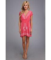 Angie Solid Embroidered Dress Price