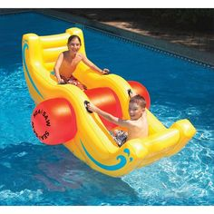 Big Sea-Saw Rocker Inflatable Swimming Pool Float Pool Toys ! Omg can I have this for my pool please ! Pool Pool, Swimming Pool Pond, Kid Pool, Pool Fun, Pool Toys For Kids, Kids Toys, Children Games, Pool Lounge, Inflatable Pool Toys