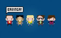 The Big Bang Theory Characters - BH - Cross Stitch PDF Pattern Download. 00, via Etsy.