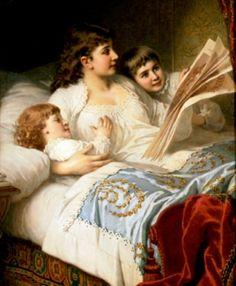 pintura de Anton Ebert (1845-1896)