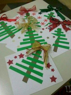 Kids Crafts Easy Christmas - Christmas DIY Crafts for kids. Homemade Christmas Crafts, Preschool Christmas Crafts, Christmas Crafts For Kids To Make, Christmas Tree Crafts, Christmas Activities, Christmas Projects, Christmas Themes, Kids Christmas, Holiday Crafts
