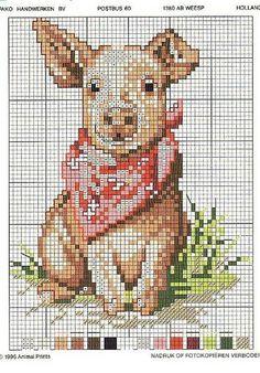 cross-stitch pig