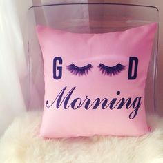 Blush Good Morning Lashes - Decor Pillow by Miss With-it! Click to shop: www.shopmisswithit.com