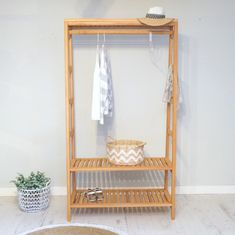 Wooden clothes unit, great space saver