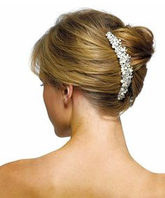 Ivory Pearls & Crystal Flowers Hair Comb -I love this, so beautiful.  Getting this for my wedding hair