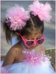 tulle hair bows - Google Search