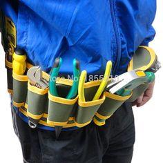 2016最新ハードウェアメカニックのキャンバスツールバッグベルト多機能ユーティリティキットポケットポーチオーガナイザー