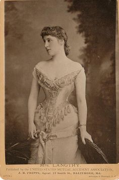 The Jersey Lily - Lillie Langtry (1853-1929) British actress, mistress of King Edward VII and painted by Millais and Burne-Jones.