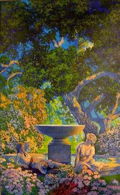 ~ Maxfield Parrish ~ American artist, 1870-1966: Golden Reveries