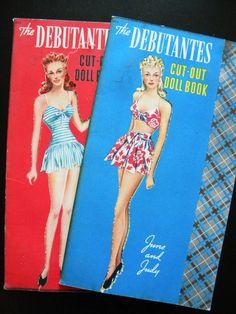 The Debutantes Paper Doll Books Whitman 1942.