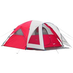 Campvalley 4-Person Instant Dome Tent, Red -- For more information, visit now : Hiking tents