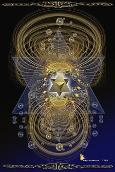 the Merkaba Activation activated through the heart center of the human body. Kundalini, Sacred Geometry Symbols, Psy Art, Visionary Art, Sacred Art, Flower Of Life, Psychedelic Art, Fractal Art, Occult