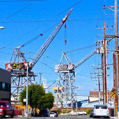 nice set of cranes Mission Bay San Francisco