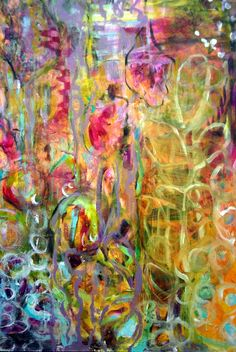 new painting.annie lockhart (seems like an intuitive painting to me) Love Art, All Art, Street Art, Arte Floral, Amazing Art, Modern Art, Photo Art, Art Projects, Abstract Art