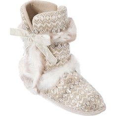 Dearfoams Sequin Fair Isle Boot - White Multi with FREE Shipping & Returns. Serious warmth meets feminine style in our softly structured boot slippers.