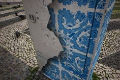 Add Fuel creates a new piece on the streets of Lisbon, by Add Fuel, Street Art, Inspiration, Ceramic Tile, Blue Porcelain, Art h-a-l-e.com