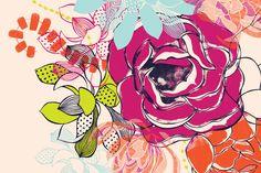 'Boho Blooms' pattern by Melbourne textile designer Bree Ellett. 2013 #illustration