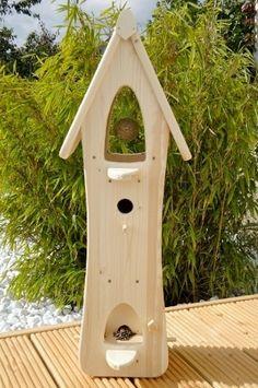 Wunderschöne Vogelvilla aus Holz - Natur.