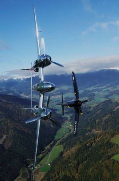 "dave-mech: ""P-38 Lightning & F4U Corsair """