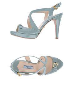47ca3688e69 Prada Women - Footwear - Sandals Prada on YOOX Grey Sandals