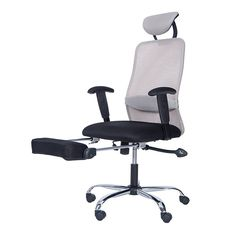 Ergohuman Mesh Gaming Chairs Office Chair With Leg Rest Support Pinterest