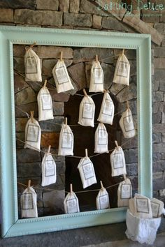 Biscuit Mix Favor Bags - Southern Shabby Chic Baby Shower