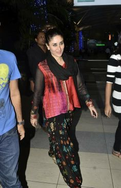 All the patiala salwar and short kurtas she wore during these promotions.