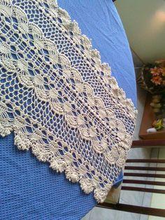camino de mesa en crochet | Aprender manualidades es facilisimo.