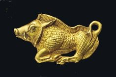 A SCYTHIAN GOLD BOAR BRACTEATE   CIRCA 5TH CENTURY B.C.