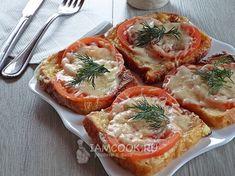 Рецепт гренок с помидорами и сыром