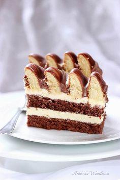 Arabeska : Ciasto góra lodowa Cookie Desserts, Sweet Desserts, Sweet Recipes, Delicious Desserts, Cake Recipes, Yummy Food, Polish Recipes, Polish Food, Vegan Sweets