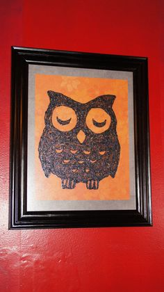 Owl painted on glass