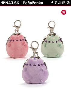 Pusheen Pastel Coin Purse GUND is proud to present this assortment of pastel mini coin purses modeled after internet sensation Pusheen. Perfect for carr Maneki Neko, Pusheen Cat Plush, Ribbon Bows, Pink And Green, Pink Purple, Tommy Hilfiger, Coins, Michael Kors, Wallet