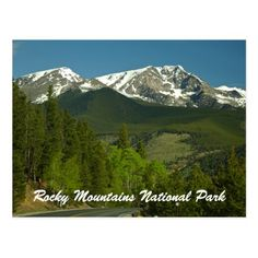 Shop Snow Capped Rocky Mountain National Park Souvenir Postcard created by nationalpark_t_shirt. Banff Hiking, Hiking Tips, Rocky Mountain National Park, Estes Park, Rocky Mountains, Landscape Photography, Hiking Shirts, Snow, Adventure