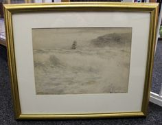 Framed and glazed watercolour by artist Victor Noble Rainbird (1889 - 1936). Watercolour is signed by artist in bottom left corner. Framed size measures 22 inches by 18 inches. Image size measures 14 inches by 10 inches.