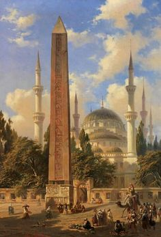 Sultan Ahmet mosque with egyptian column - Istanbul !