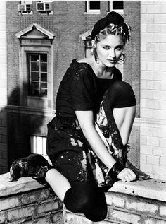 Photo by Kate Simon, 1983, Madonna.