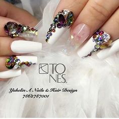 tonesproducts (Tones) Instagram Photos and Videos | instidy.com - Instagram Online Viewer G Nails, Stiletto Nails, Hair And Nails, Fancy Nails, Love Nails, How To Do Nails, Gorgeous Nails, Pretty Nails, Neon Green Nails
