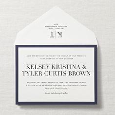 Engraved Fifth Avenue Fete Wedding Invitation