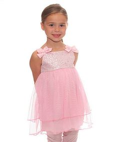 Loving this Pink Sequin Chiffon Dress & Leggings - Toddler & Girls on #zulily! #zulilyfinds $19.99