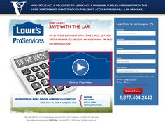 Specialty website for VGM Smartbiz/Lowe's by VGM Forbin.