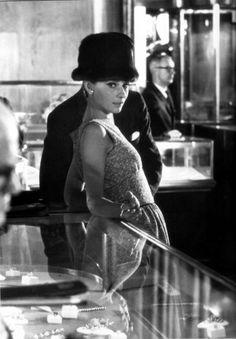 Audrey Hepburn on the set of Breakfast at Tiffany's, 1961
