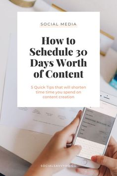 How to Schedule 30 Days Worth of Content - Olav Bertolin