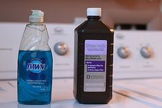 ONLY SPOT REMOVER YOU WILL EVER NEED:  Mix a 1:2 ratio of Dawn dish soap and hydrogen peroxide (1 part soap, 2 parts HP).    Put on stain and watch it disappear. For those stubborn, washed-in stains  put the remover on the stain, let it sit for a few minutes, rinsed, and repeat.