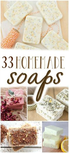 Looking for a few new favorite homemade soap recipes? Learn how to make homemade soap with these 33 super recipes! Detergent, bar soap, body wash and more! More