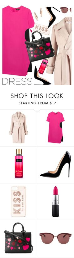 """""""On trend two tone dress"""" by maria-maldonado ❤ liked on Polyvore featuring Miss Selfridge, Versace, Victoria's Secret, Kate Spade, MAC Cosmetics, Yves Saint Laurent, Oliver Peoples, ZoÃ« Chicco and twotonedress"""
