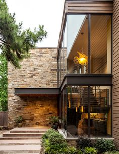 home fachadas 92 Moderne Hausfassaden, die S - home Residential Architecture, Contemporary Architecture, Interior Architecture, Stairs Architecture, Contemporary Building, Garden Architecture, Contemporary Landscape, Contemporary Design, Interior Rendering