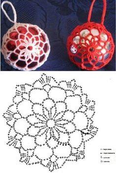Breathtaking Crochet So You Can Comprehend Patterns Ideas. Stupefying Crochet So You Can Comprehend Patterns Ideas. Christmas Crochet Patterns, Crochet Christmas Ornaments, Crochet Snowflakes, Holiday Crochet, Christmas Balls, Christmas Crafts, Christmas Tree, Crochet Diagram, Crochet Chart