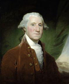27. Estados Unidos. Gilbert Stuart George Washington. En el siglo XVII no hubo apenas arte en la América anglosajona, porque los puritanos ingleses asociaban las imágenes y sus mensajes con la vanidad y la inmoralidad de la vida cortesana, así que solamente se hicieron retratos, muchas veces de políticos.