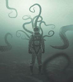 Cthulhu Mythos, Cthulhu Art, Cthulhu Tattoo, Call Of Cthulhu, Dark Fantasy Art, Dark Art, Necronomicon Lovecraft, Lovecraft Cthulhu, Character Art